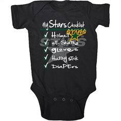Old Time Hockey Dallas Stars Infant Galore Creeper