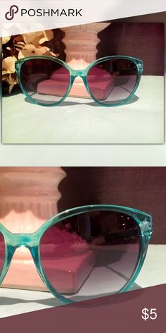 Turquoise Rimmed Sunglasses Turquoise Rimmed Sunglasses Forever 21 Accessories Sunglasses