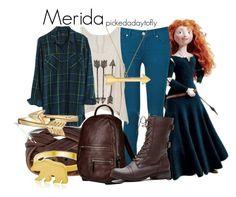 """Merida"" by pickedadaytofly ❤ liked on Polyvore featuring мода, Merida, Paige Denim, Madewell, Mona Mara, George & Laurel, Bling Jewelry, Doucal's, disney и merida"