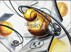 #청진기 #테니스공 #구도 #기디 #기초디자인 #아트앤디자인 / 출처 네이버 검색 Surrealism, Orange, Anime, Painting, Design, Painting Art, Cartoon Movies, Paintings