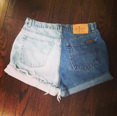 High Waisted Denim Shorts by MNCcreation on Etsy, $35.50