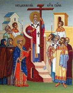 Catholic Religion, Orthodox Christianity, Religious Icons, Religious Art, Russian Icons, Holy Cross, Orthodox Icons, Scene, Painting