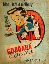 A garrafinha do Guaraná Caçula era na medida ideal para a sede dos anos 50 ! Sem exageros, sem desperdício.