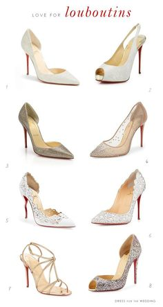 Designer Shoes for Weddings : Favorite wedding shoes by Christian Louboutin #weddingshoes