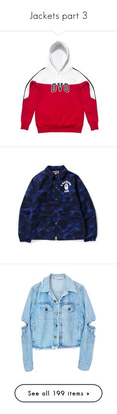 """""""Jackets part 3"""" by jadahnicole ❤ liked on Polyvore featuring tops, hoodies, white top, white hoodies, outerwear, jackets, blue camo jacket, nylon coaches jacket, blue jackets and blue camouflage jacket"""