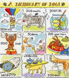 A Dictionary of  Dogs - Bothy Threads cross stitch kit