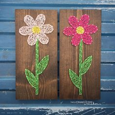 MADE TO ORDER String Art Flower Sign