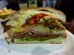 Uruguay Food - Now that's a sandwich!