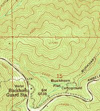 Real topo map