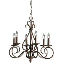 View the Kichler 1713 6 Light Up Light Chandelier from the Norwich Collection at LightingDirect.com.