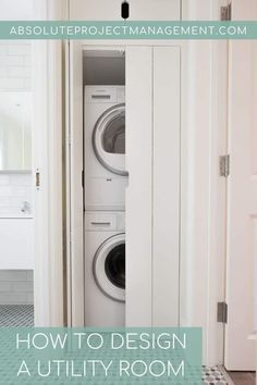 Smart storage design for a utility space. Joinery planning for your utility  #utility #utilityinspo #laundryinspo #absoluteprojectmanagement Laundry Doors, Laundry Room Sink, Laundry Drying, Laundry Closet, Small Laundry Rooms, Laundry Room Organization, Laundry Room Design, Small Utility Room, Utility Cupboard