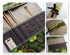 Sewing pattern for a knitting needle roll