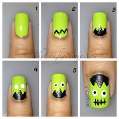 Nails for kids, diy nails, nail art diy, halloween nail designs, holiday Fall Nail Art, Nail Art Diy, Diy Nails, Cute Nails, Pretty Nails, Halloween Nail Designs, Halloween Nail Art, Cute Nail Designs, Spooky Halloween