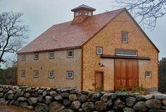 A Leeds, Maine cow barn serves as a workshop/studio on Cape Cod.