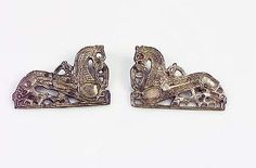 Pair of horse-shaped brooches from Birka, Historiska Museet