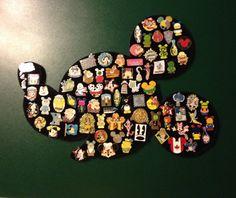 Disney Mickey Mouse head large pin display