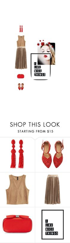 """Nice Things"" by zlata ❤ liked on Polyvore featuring Oscar de la Renta, Valentino, Nina, red, velvet and REDLIP"