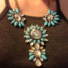 Turquoise necklace Turquoise statement necklace Charlotte Russe Jewelry Necklaces