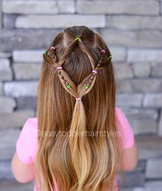 "303 Likes, 16 Comments - Tiffany ❤️ Hair For Toddlers (@easytoddlerhairstyles) on Instagram: ""In this week's tutorial, I'm going to show you how to adapt this look depending on hair length or…"""