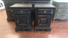 """Here is a pair of great nightstands. They are taller then normal and go with the dresser I posted earlier but they could also be great with some other piece you might already have. What do you think?  The dimensions are 20"""" L, 16"""" W, 30"""" H. SOLD!! for $275"""