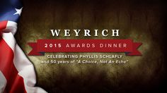2015 Weyrich Awards