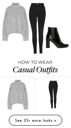 """""""Casual outfit"""" by thefirepink on Polyvore featuring Topshop, Yves Saint Laurent, women's clothing, women, female, woman, misses and juniors"""