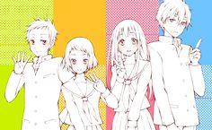 Hyouka | Kyoto Animation | Yonezawa Honobu / Oreki Houtarou, Chitanda Eru, Fukube Satoshi, and Ibara Mayaka / 「奉える(詰め合わせ)」/「相模」の漫画 [pixiv] [01]