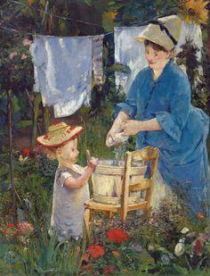 Edouard Manet - Laundry, 1875 at Barnes Foundation Philadelphia PA   Flickr - Photo Sharing!