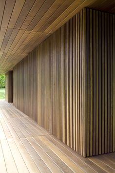 Gallery of Meditation Pavilion & Garden / GMAA - 7 House Cladding, Timber Cladding, Exterior Cladding, Wood Slat Wall, Wood Slats, Interior Architecture, Interior And Exterior, Pavillion, Timber Walls