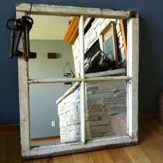 Antique Window Pane Mirror | ... recycle - recite! Why not transform an old window pane into a mirror