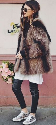 fur. leather. sneakers.