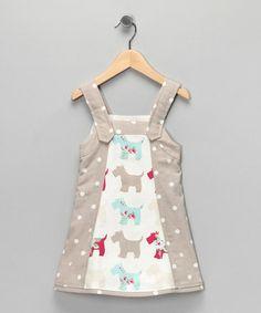 Beige Scottie Dog Mimi Dress