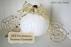 DIY Cinderella Pumpkin Carriage Tutorial - White Cottage Boutique | White Cottage Boutique