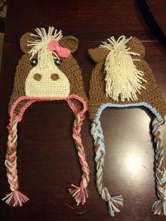 Pferd-Hut häkeln