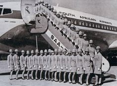 Old SAA crew Picture credit not known Johannesburg City, Boeing 707, East London, Picture Credit, Cabin Crew, Travel Scrapbook, African History, Flight Attendant, Best Memories