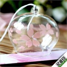 Japanese-Traditional-Cultural-Glass-Wind-Chimes-Bell-Edo-Furin-Summer-Cool-Gifts| I love cherry blossoms