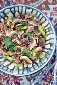 Marinated Raw Mushroom Salad Recipe