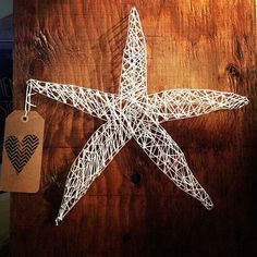 Starfish Custom string art Rustic starfish by TautlyTangled, $35.00