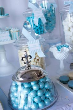 Blue Christening  Birthday Party via Kara's Party Ideas | Kara'sPartyIdeas.com #blue #christening #birthday #party #supplies #ideas (5)