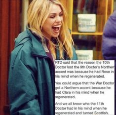 AND 13 HAS A NORTHERN ACCENT TOO FOR CLARA