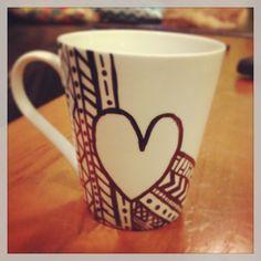 DIY coffee mugs --  i love coffee mugs