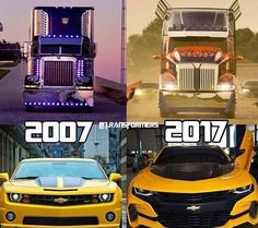 Don't go telling me that, that's DOTM Optimus and AOE Optimus. I couldn't find the proper front pictures of his alt mode. Besides, they're the same, and stayed the same Transformers Prime, Transformers Characters, Transformers Bumblebee, Transformers Decepticons, Los Autobots, Lux Cars, Performance Cars, Car Pictures, Fast And Furious