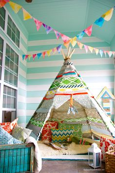 teepee diy - my kids would love this...