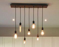 Rustic Wood Chandelier 17 Pendant Lights by HangoutLighting