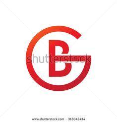 BG GB initial company circle G logo red