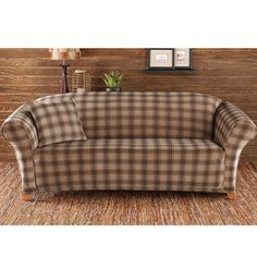 Sure Fit Slipcovers Stretch Belmont Plaid One Piece - Sofa Sure Fit Slipcovers, Slipcovers For Chairs, Loveseat Sofa, Couch, Kitchen Sofa, Furniture Covers, Plaid Pattern, Love Seat, Family Room