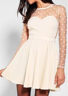 polka dot mesh dress  http://rstyle.me/n/fqp78pdpe