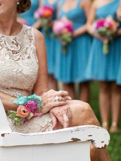 Mother of the Bride wrist courage on ribbon/ ranunculus/ roses/ seeded eucalyptus  Flowers Keiley Caldwell  Photography Happy Everything Co. Athens Ga.