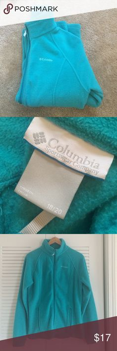 Columbia Fleece Jacket In great condition - Teal colored Columbia fleece jacket! Size youth 18/20 which is equivalent to an adult small. So warm and comfy! Columbia Jackets & Coats