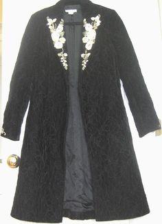 White House Black Market  - Evening  Black Long Jacket Coat Blazer, Size S #WhiteHouseBlackMarket #Blazer